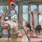 Moses Speaks to Pharaoh-James Tissot