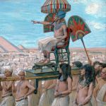 Pharaoh Notes the Importance of the Jewish People-James Tissot