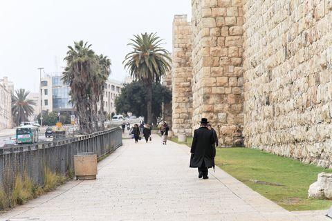 Jewish-man-walking-Yaffa Gate-Old City-Jerusalem