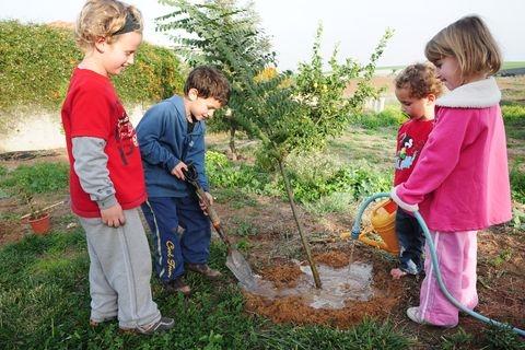 Tubishvat_Israel_Children_trees