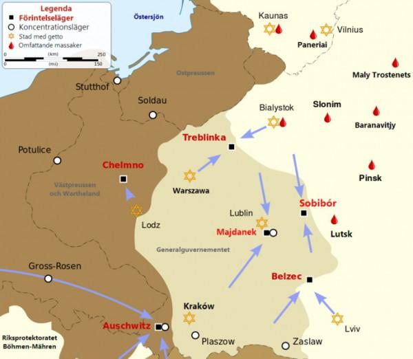 Killing centers German-Poland-Chelmno-Belzec-Sobibor-Auschwitz-Birkenau