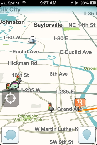 Waze app-acquired by Google-GPS-application for mobile devices