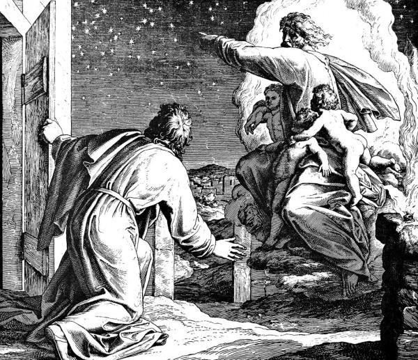 God shows Abraham the stars, by Julius Schnorr von Carolsfeld