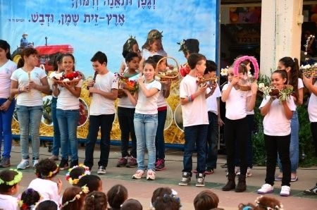Israeli school children-celebrates-Shavuot-Feast of Weeks-Firstfruits