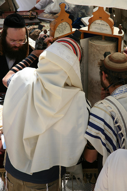 reading Torah-Western (Wailing) Wall-Jerusalem-Kotel