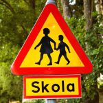 Swedish road sign, Skola