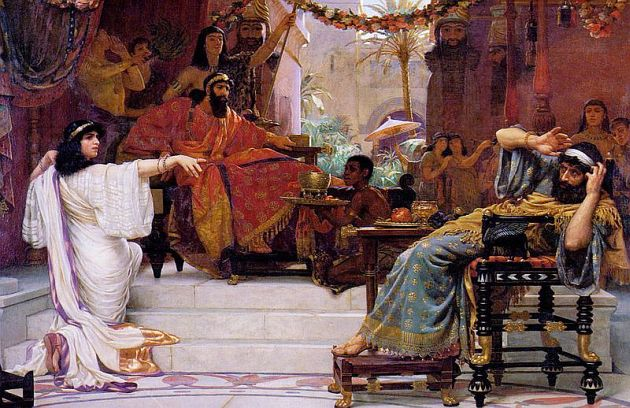 Esther Denouncing Haman, by Ernest Normand