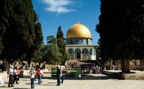 Temple Mount-mosk-Jerusalem-copper roof