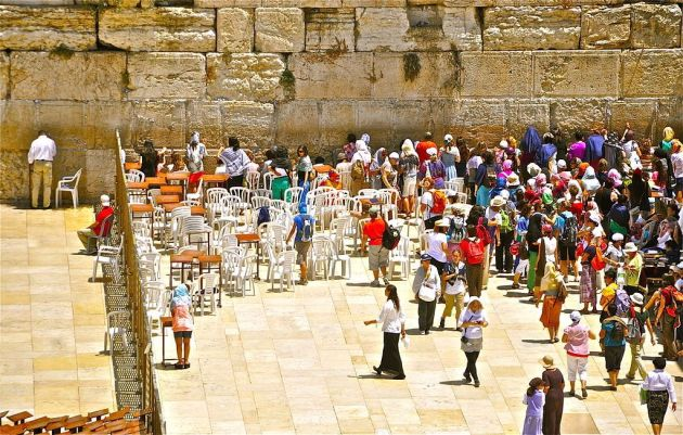 Western Wall-Womens section