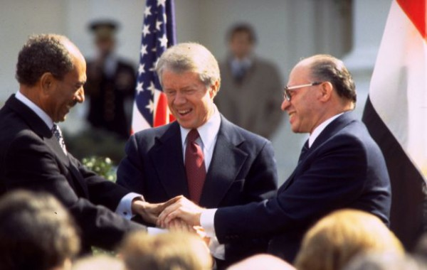Triple Handshake-Begin-Carter-Sadat-Peace Treaty-Washington