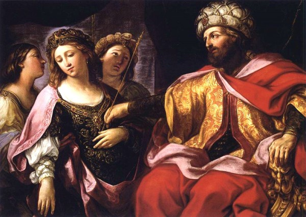 Esther before Ahasuerus-Giovanni Andrea Sirani