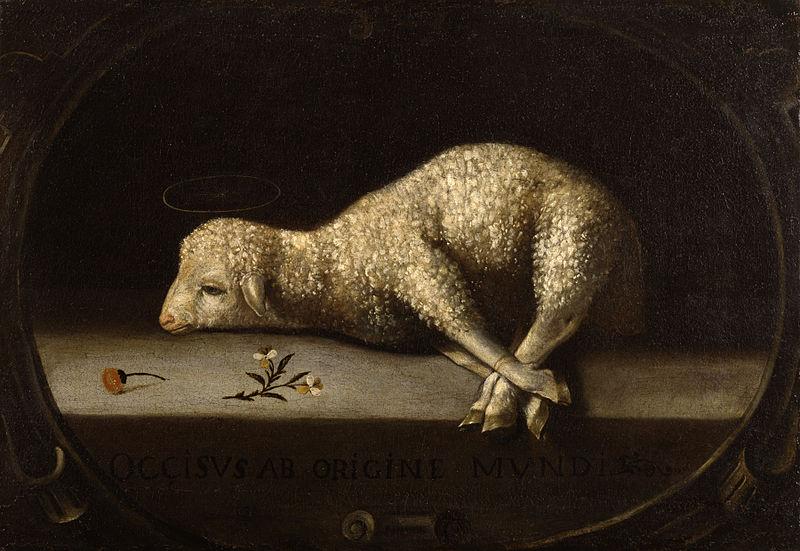The Sacrificial Lamb-Josefa de Obidos-Josefa de Ayala