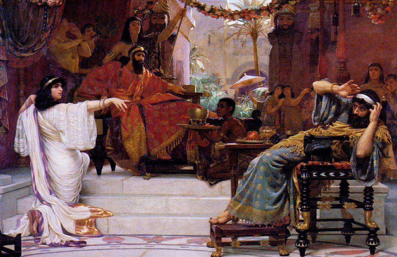 Esther Denouncing Haman-Ernest Normand