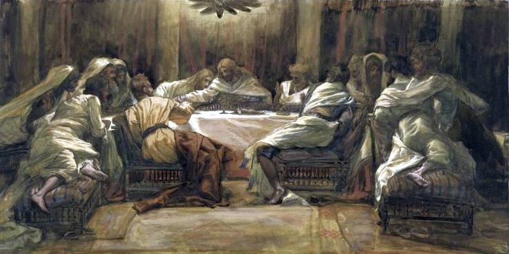 The Last Supper: Judas Dipping His Hand in the Dish, by James Tissot