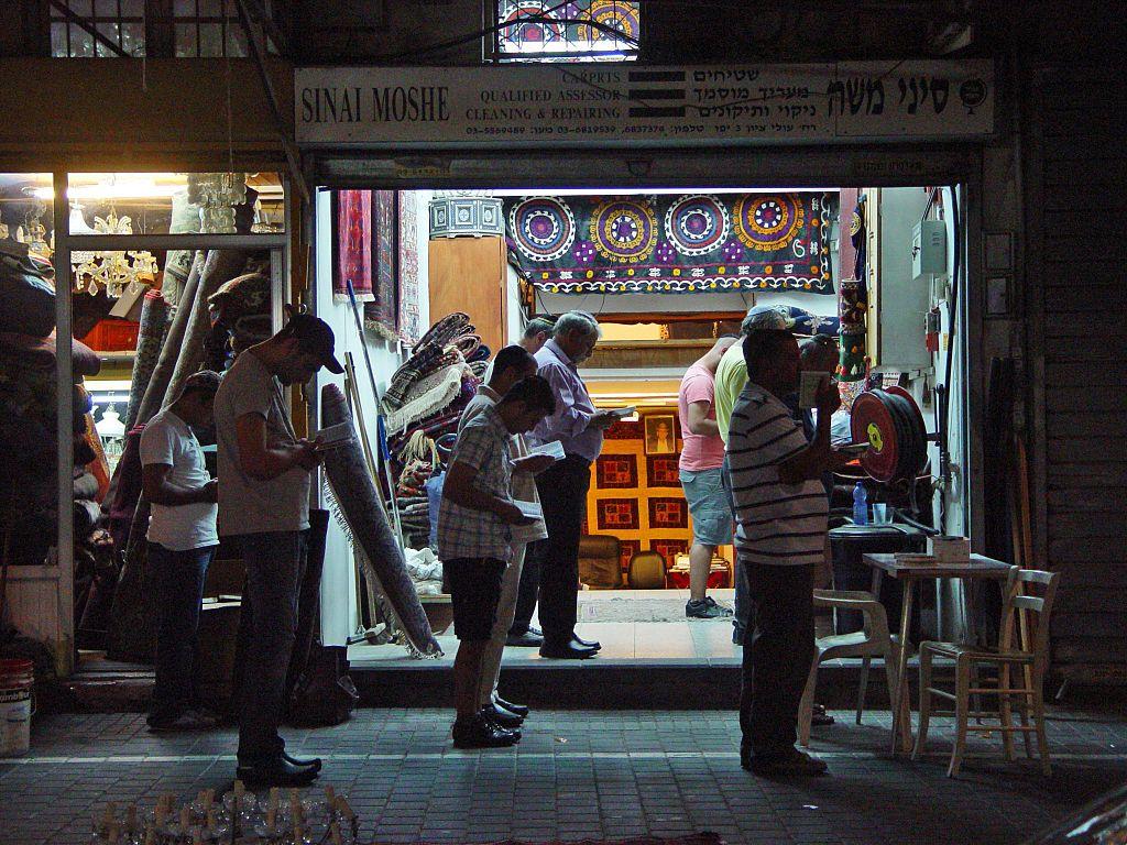 Jewish men-Minyan-Maariv-Jaffa