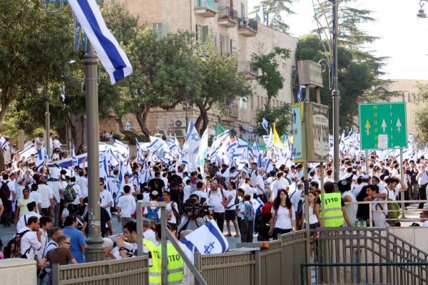 Jerusalem Day-Israeli flags