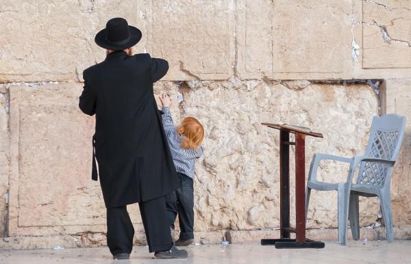 father_son, western_wall, prayer