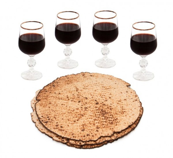 four cups of wine-matzot- Feast of Unleavened Bread