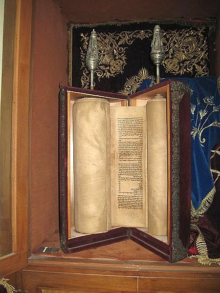 Open Torah scroll-Torah Ark
