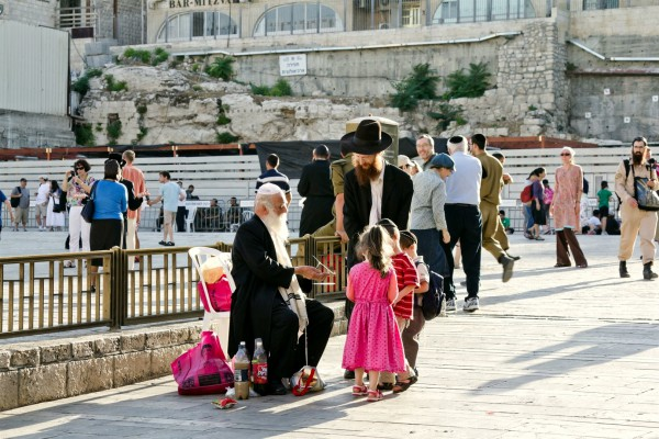 Orthodox family-Kotel plaza-Western Wall