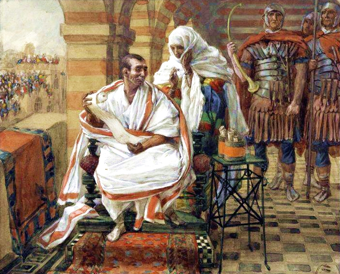 The Message of Pilate's Wife-James Tissot