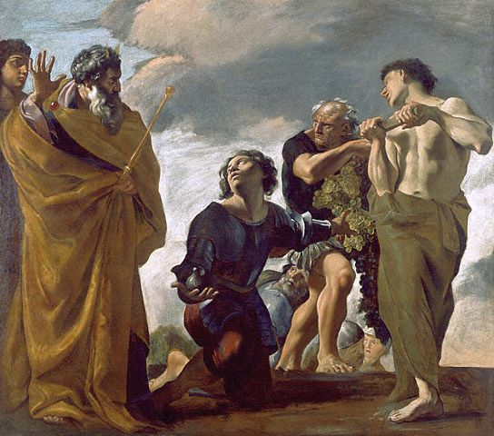 Moses and the Messengers from Canaan-Giovanni Lanfranco