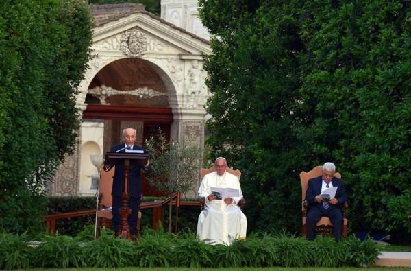 Israeli President Shimon Peres-Palestinian President Mahmoud Abbas-Pope Francis
