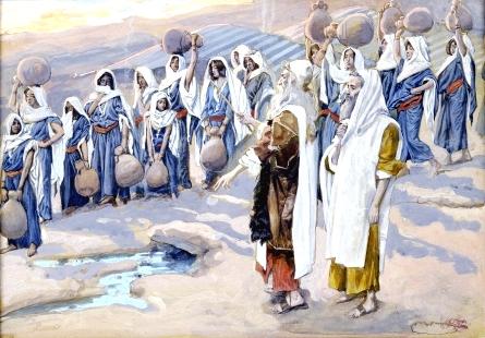 Moses Smites the Rock-James Tissot