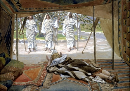 Abraham and the Three Angels-James Tissot