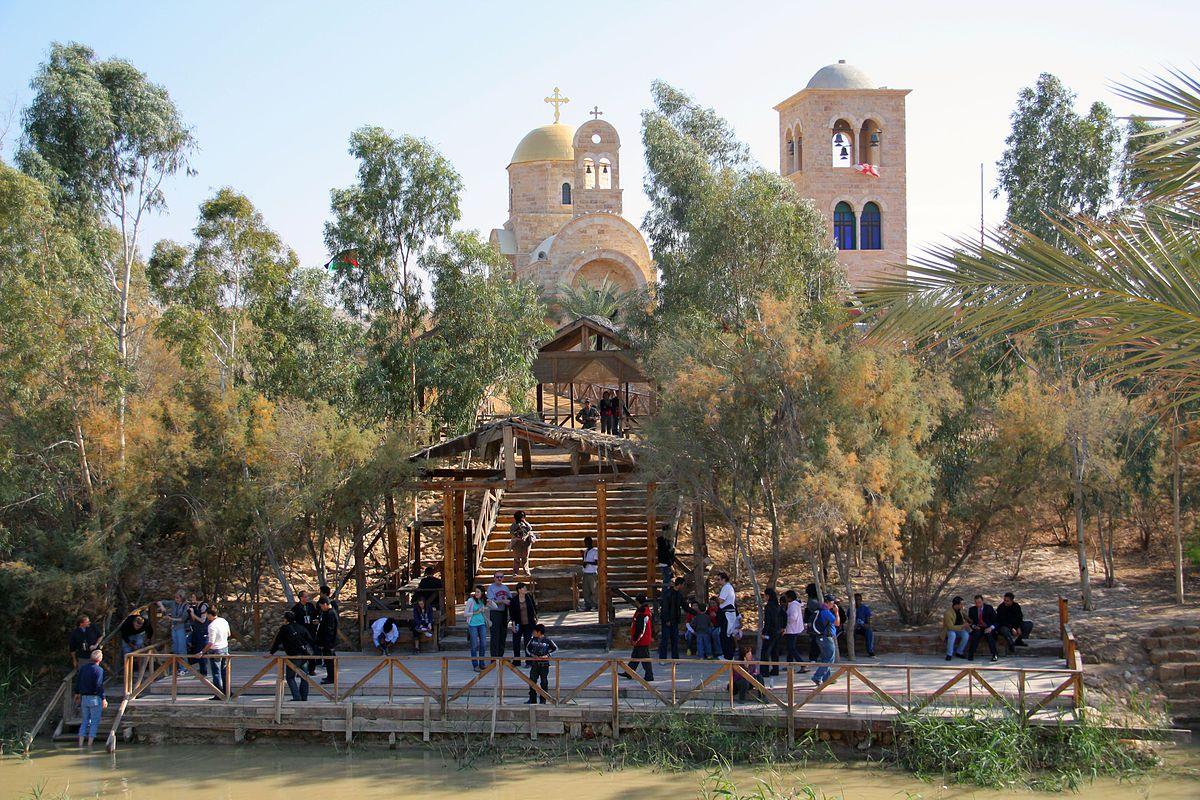 Christian pilgrims visit Qasr el Yahud.