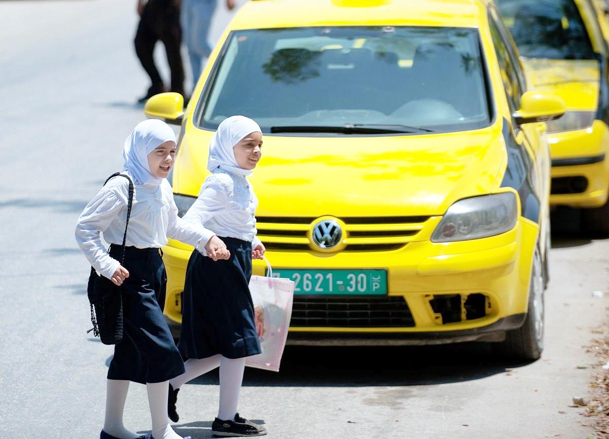 West Bank schoolgirls-Judea-Samaria