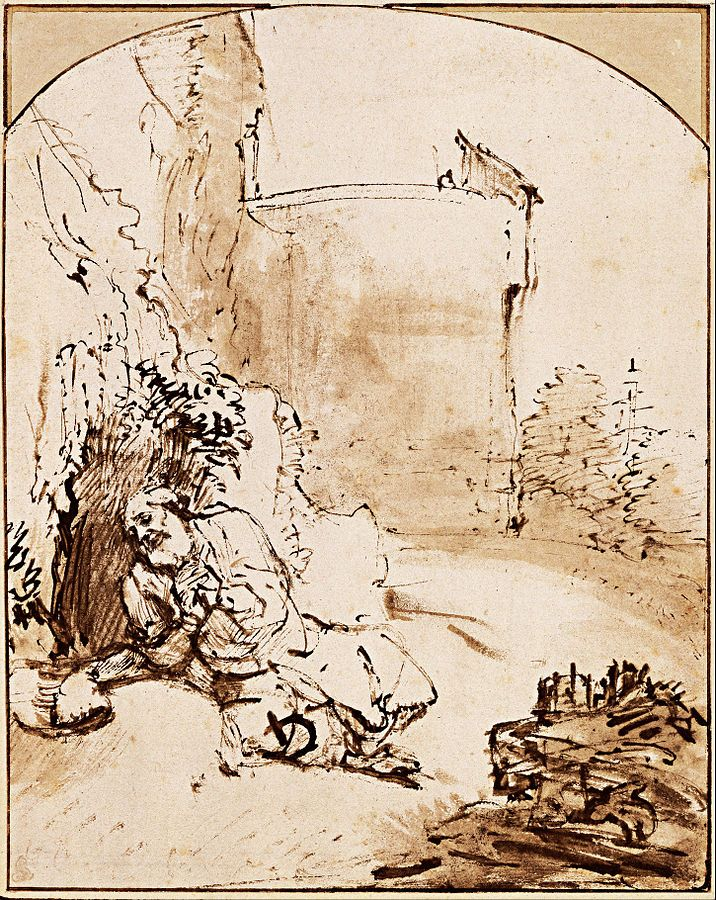 The Prophet Jonah Before the Wall of Nineveh, by Rembrandt