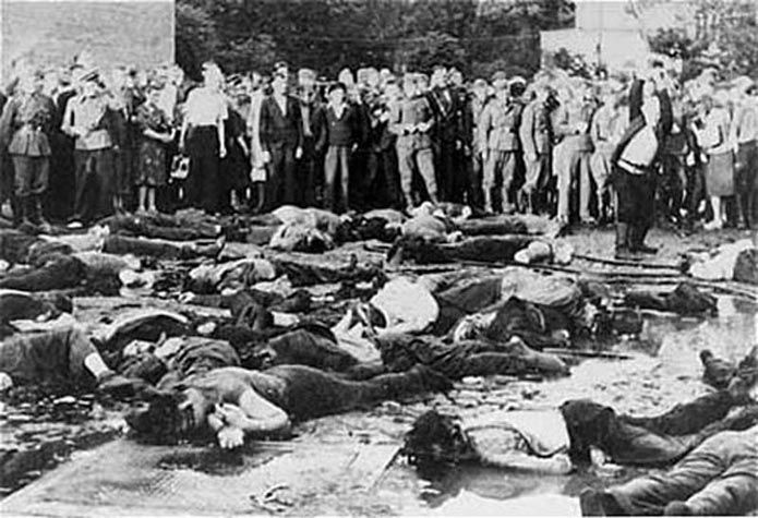 Civilians-Massacre-68 Jews-Lietukis Garage-Kovno-Lithuania-June 25 or 27, 1941