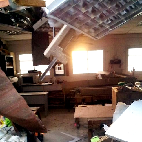 Israeli school-Hamas rockets-direct hit