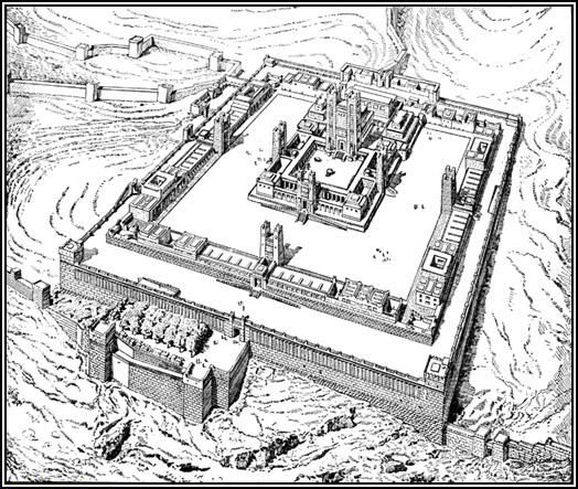 plan of Ezekiel's Temple Charles Chipiez.
