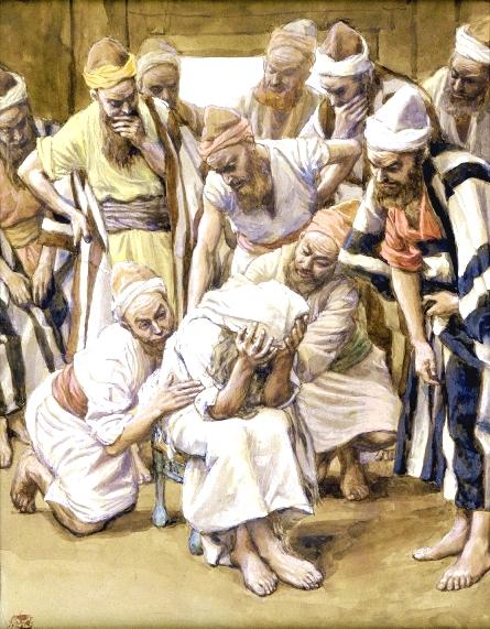 Jacob Mourns His Son Joseph, by James Tissot