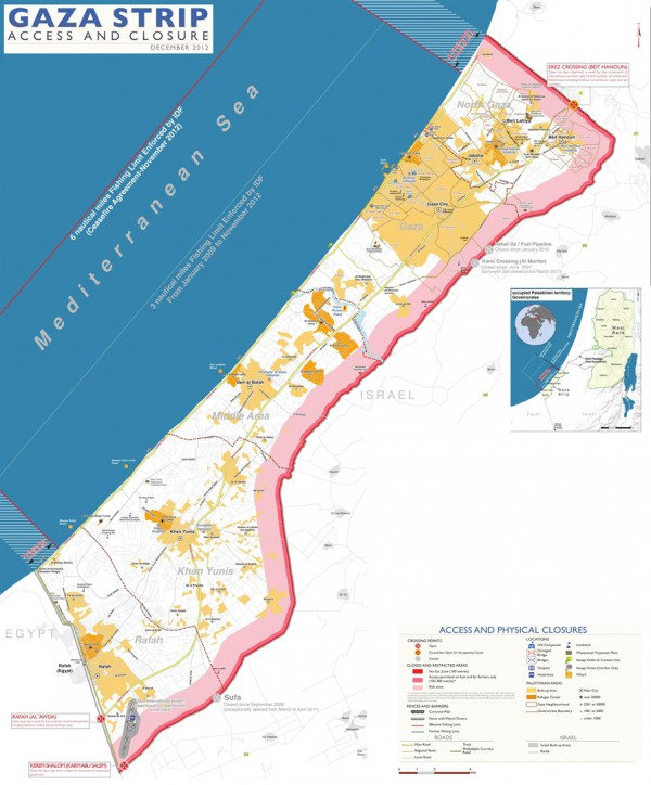 Access and closure in the Gaza Strip.