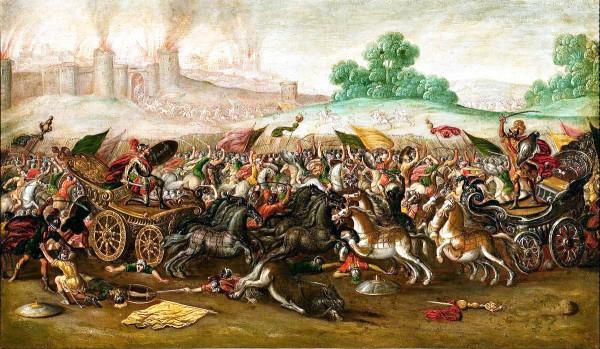 The Burning of Jerusalem-Nebuchadnezzar's Army-Juan de la Corte