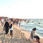 A beach in the Gaza Strip.