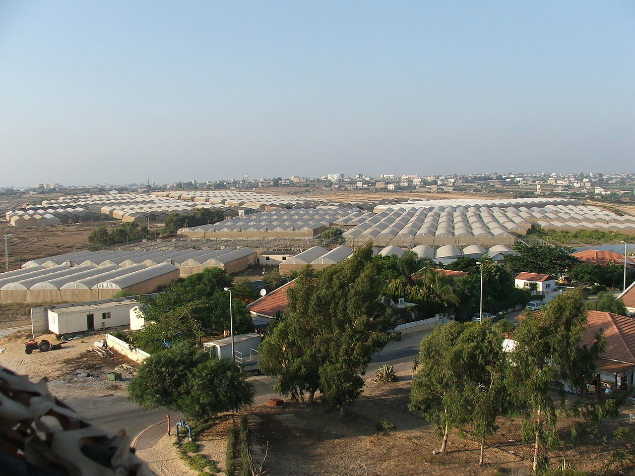 Gush Katif greenhouses left for Palestinians in the Gaza Strip.