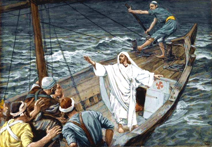Yeshua Stilling the Tempest, by James Tissot
