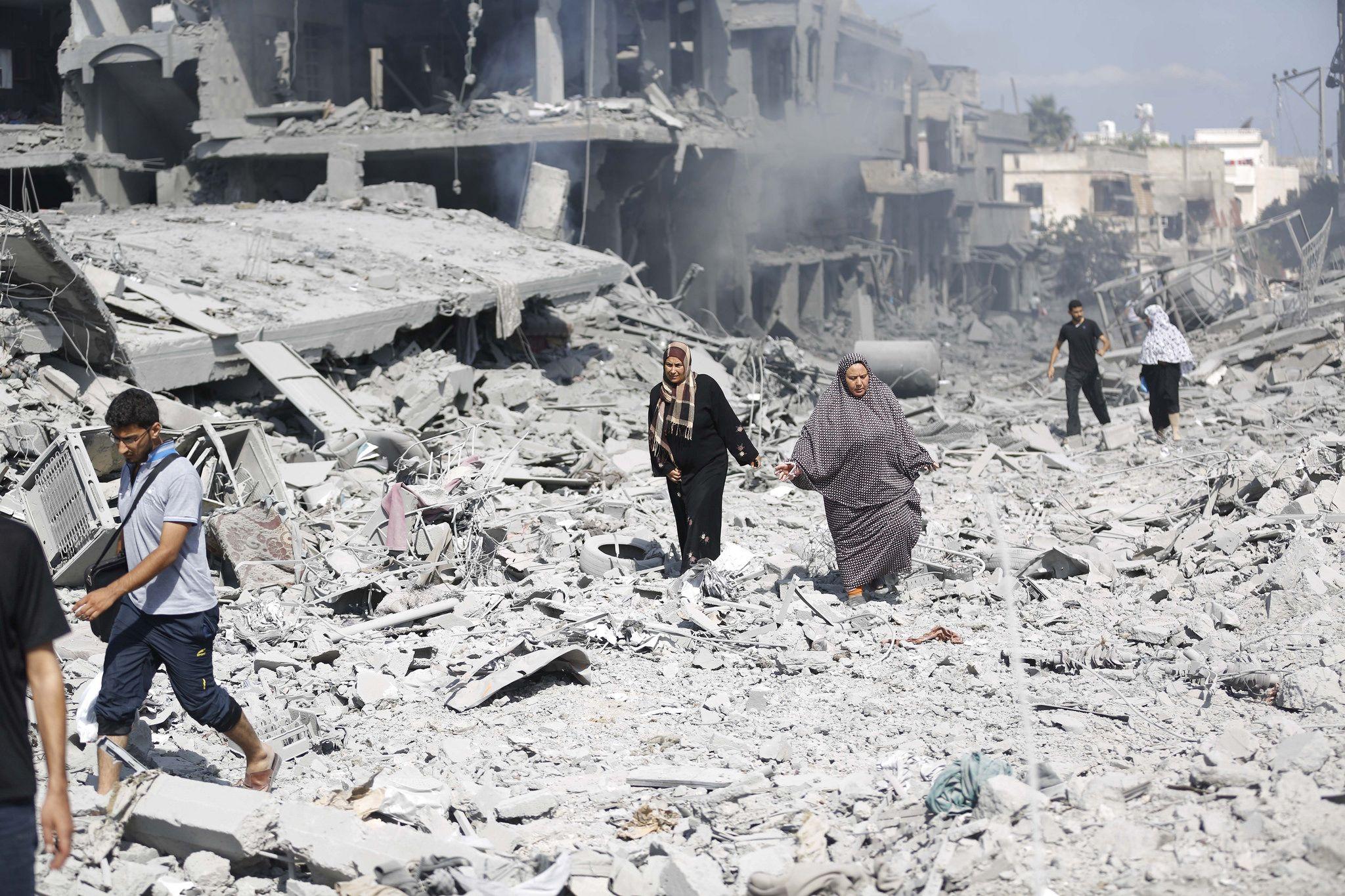 destruction Hamas Shujaìya Gaza