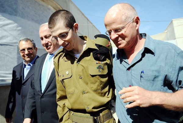 October 18, 2011, Gilad Shalit was reunited with his father, Noam, after landing in an IDF base.
