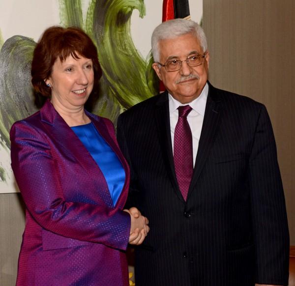 Mahmoud Abbas Catherine Ashton.
