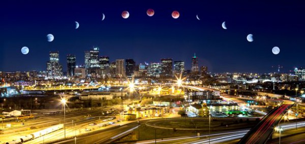 A time lapse shot of the Blood Moon at Pesach (Passover). (Photo: Cass Letson)