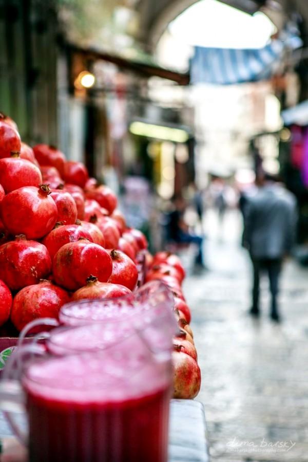 A fruit stand in Jerusalem.