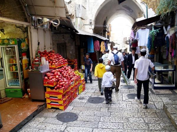 Arabs and Jews in Jerusalem during Sukkot.