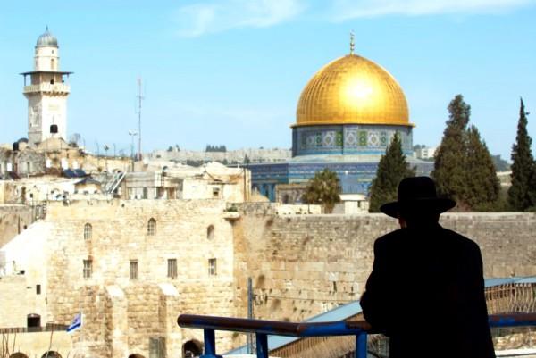Orthodox-Jewish man-Western Wall Plaza-Old City- Jerusalem