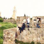 Jerusalem ramparts tourists walls
