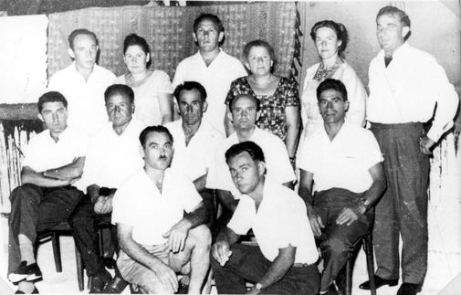 A handful of Sobibor survivors who escaped in the revolt pose for a picture in Israel.